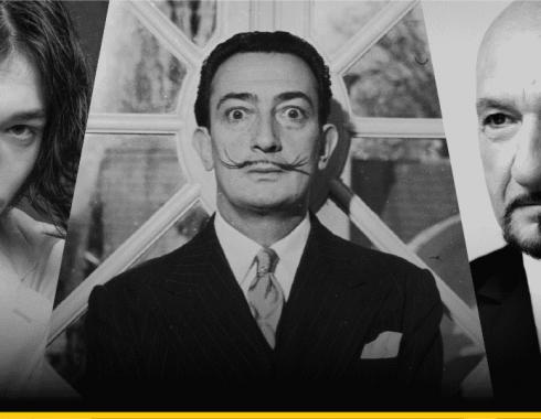 Ezra Miller, Ben Kingsley y Salvador Dalí