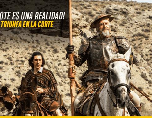 Adam Driver y Jonathan Pryce en 'The Man Who Killed Don Quixote'