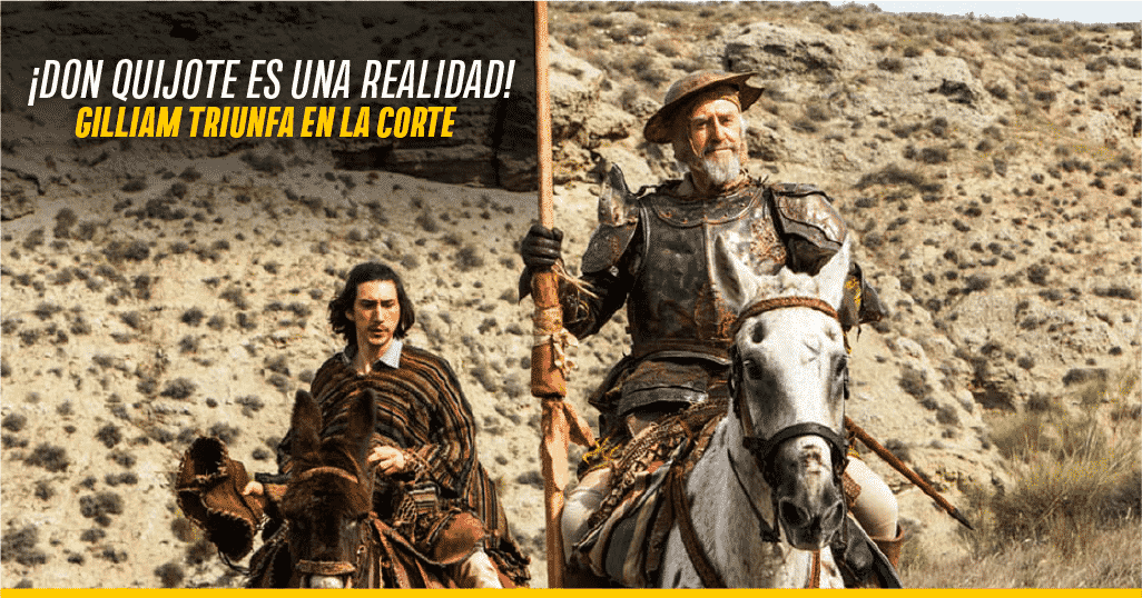 Adam Driver y Jonathan Pryce en 'The Man Who Killed Don Quixote'