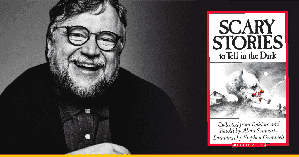 Del Toro y la portada de 'Scary Stories To Tell In The Dark'