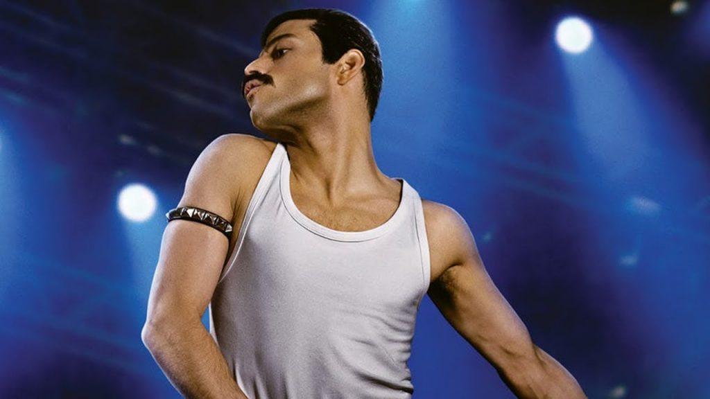 Remi Malek como Freddie Mercury en Bohemian Rhapsody.