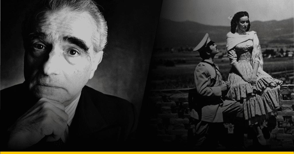 Fotografía de Scorsese y escena de 'Enamorada'