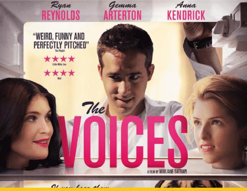 Poster versión UK de 'The Voices'
