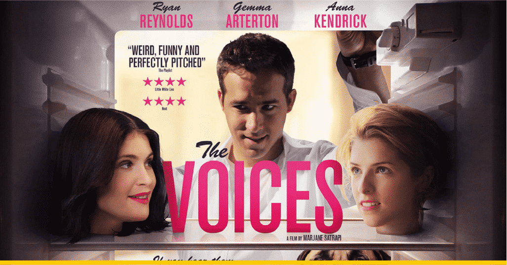 Poster versión UK de 'The Voices'