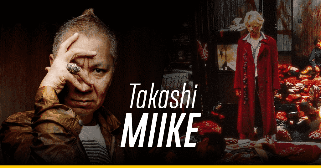 Takashi Miike y una escena de 'Ichi the Killer'