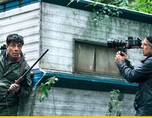 Ben Stiller en el set de grabación junto a Benicio del Toro