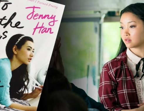 Escena de 'To All the Boys I've Loved Before' y portada del libro homónimo