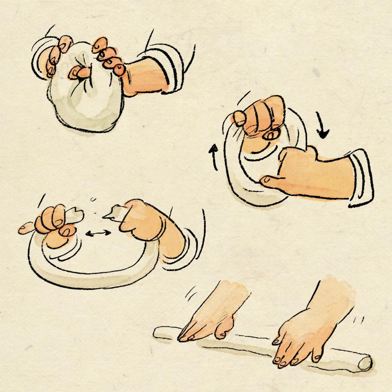 Bosquejos de la receta de un Baozi. Fuente: Domee Shi / Pixar
