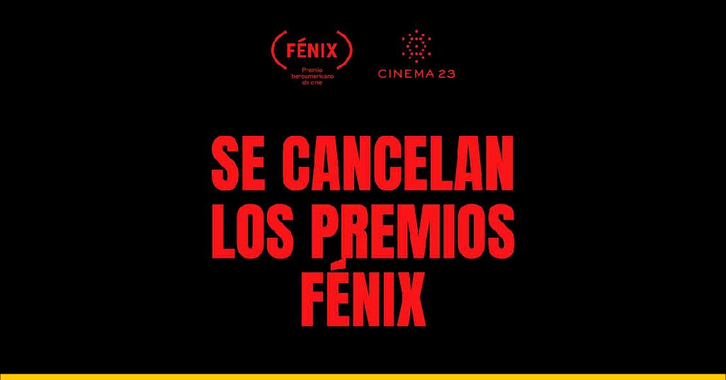 Se cancelan los premios Fénix